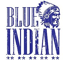 Blue Indian Photographic Print