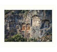 Rock Tombs of Turkey Art Print
