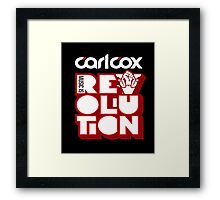 Carl Cox - Music is Revolution Shirt  Framed Print