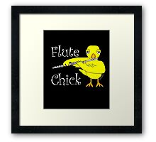 Flute Chick Funny Musical Instrument T Shirt With White Text  Framed Print