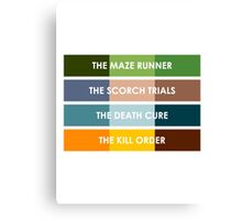 The Maze Runner Series in Basic Colors Canvas Print