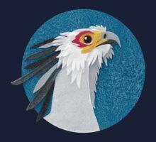 Secretary bird portrait in felt Kids Tee