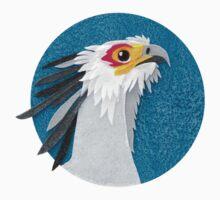 Secretary bird portrait in felt Baby Tee