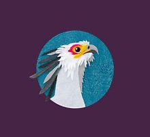 Secretary bird portrait in felt Unisex T-Shirt