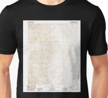 USGS TOPO Map California CA Waucoba Canyon 295668 1987 24000 geo Unisex T-Shirt