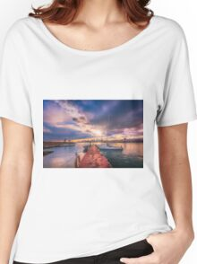 The jetty in the evening Women's Relaxed Fit T-Shirt