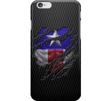 Star and stripes chest ripped torn tee iPhone Case/Skin