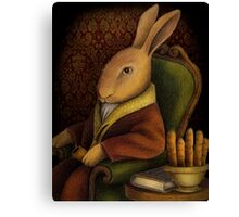 Sir Rabbit Worthington Canvas Print