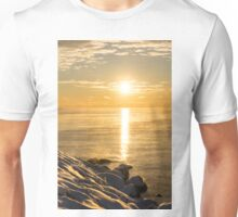 Arctic Golds - a Sparkling Subzero Sunrise on Lake Ontario Unisex T-Shirt