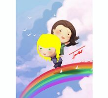 SwanQueen - Swen and Rainbow by janieb18