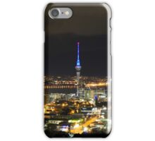 Sky Tower at night, Auckland, New Zealand iPhone Case/Skin