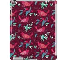 Birds and berry texture iPad Case/Skin