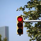 red traffic light intersection by mrivserg