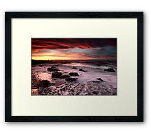 Sunrise at Dysart Beach Framed Print