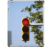 red traffic light intersection iPad Case/Skin