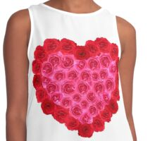 Red and pink rose heart shape Contrast Tank