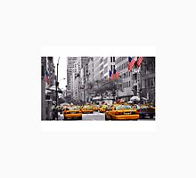 Color in 5th Ave Yellow Cabs plus Stars and Stripes Womens Fitted T-Shirt