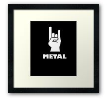 Rock On Heavy Metal T-Shirt Metal Music Lovers 2 Framed Print