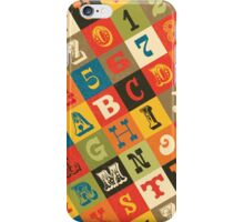 Vintage Alphabet iPhone Case/Skin