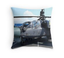 Attack helicopter Ka-52 Alligator Throw Pillow