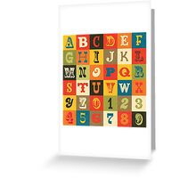 Vintage Alphabet Greeting Card