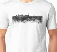 Auckland skyline in black watercolor Unisex T-Shirt