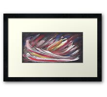 Cosmic multicolor Framed Print