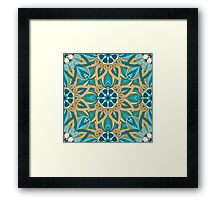 Floral mandala abstract pattern design by Somberlain Framed Print
