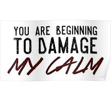 You Are Beginning to Damage My Calm Poster