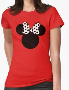 Mouse Ears with Black & White Spotty Bow T-Shirt