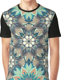 Floral mandala abstract pattern design by Somberlain Graphic T-Shirt