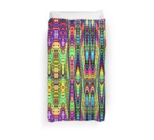 Neon Town reflections Duvet Cover