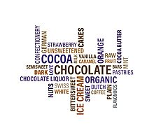 Sweet Chocolate Candy Word Cloud Photographic Print