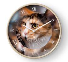 Red hair cat clock Clock