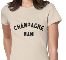Campagne Mami - Black Womens Fitted T-Shirt
