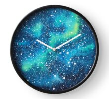 Watercolor Galaxy Clock