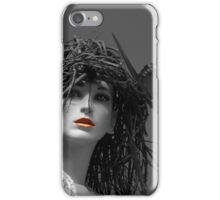 Ruby red lips SC iPhone Case/Skin