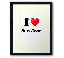 I Love San Jose Framed Print