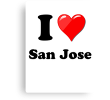 I Love San Jose Canvas Print