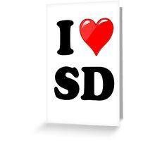 I Love SD Greeting Card