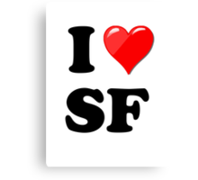 I Love SF Canvas Print