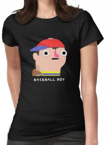 Baseball boy (white text) Womens Fitted T-Shirt