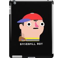 Baseball boy (white text) iPad Case/Skin