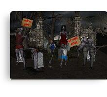 Zombie Protest Canvas Print