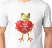 Merry Christmas (3D Frog Art) (Single) Unisex T-Shirt