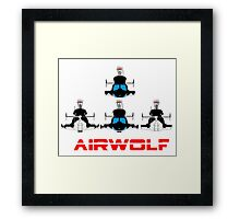 More Airwolf Helicopter Framed Print