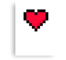 Pixal Heart Canvas Print