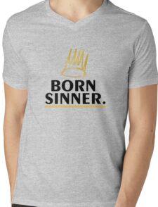 born sinner Mens V-Neck T-Shirt