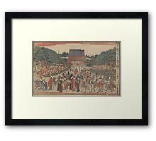 New edition of a front view of San'enzan Zojoji in Shiba - Shucho Tamagawa - 1789 Framed Print