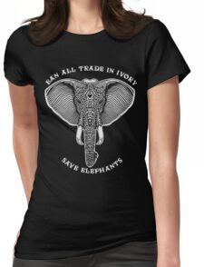 Ban all trade in ivory save elephants christmas shirt Womens Fitted T-Shirt
